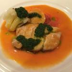 白身魚 バジルソース